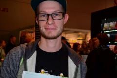 Steffen beim Cartoonpreis 2015 auf der Buchmesse