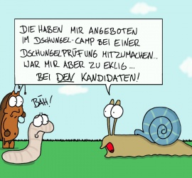 Cartoon Dschungelcamp