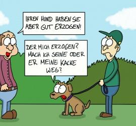 Cartoon Hundeerziehung